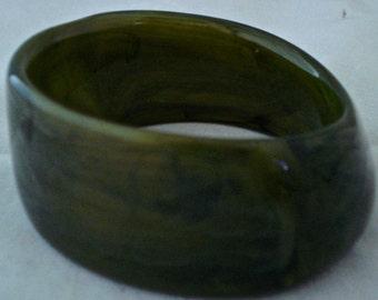 Green Plastic cuff bracelet