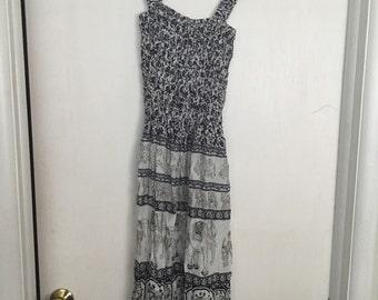 Dark blue Cambodian dress