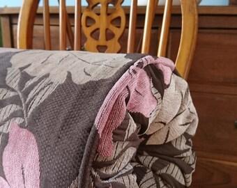 Handmade Bolster Cushion - Dusky pink/brown/taupe