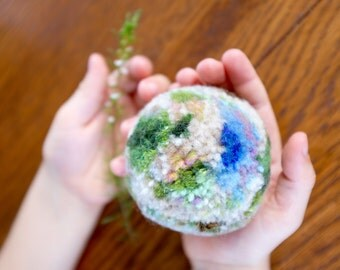 Beautiful Green and Blue Pompom