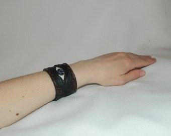 """Браслет """"Глаз"""". Натуральная кожа. Ручная работа. Bracelet """"Eye"""". Genuine leather. Handmade."""