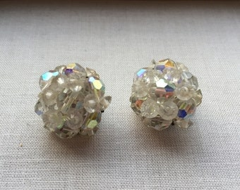 Vintage colored crystal earrings