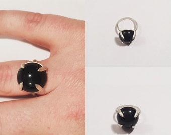 Black Onyx Statement Ring