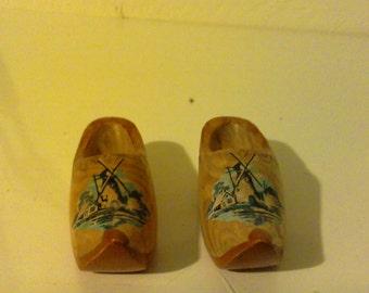 Miniature shoe sculter wood handmade