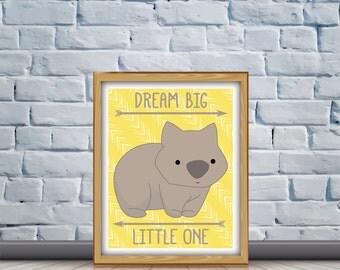 Wombat Nursery Quote Print