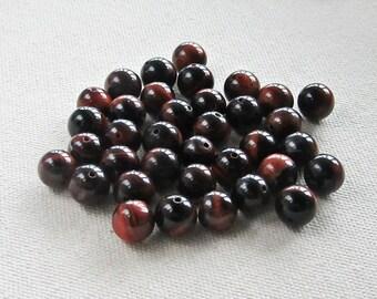 Tiger Eye Beads 10 mm - Tiger Eye Gemstone - Natural Gemstone Beads - 36 pcs
