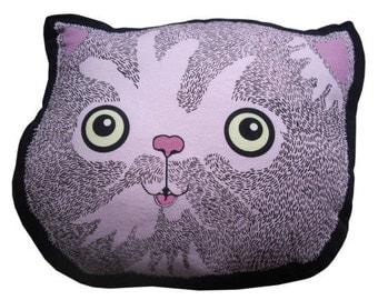 Cat Cushion Illustrated by Brennan & burch