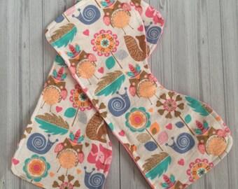 Contoured Burp Cloths - Woodland Burp Cloths - Minky Burp Cloths