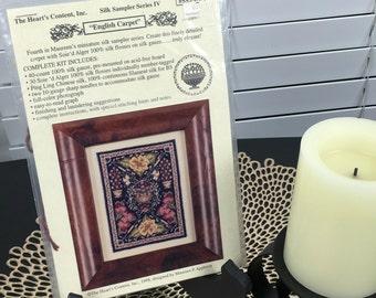 English Carpet - Heart's Content - Silk Gauze Kit -  Cross Stitch Kit - Maureen Appleton - Sampler Series IV 1998