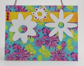 Bright Flowers greeting card (blank inside)