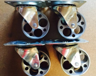 "3"" Steel Caster Set. Four Swivel Caster"