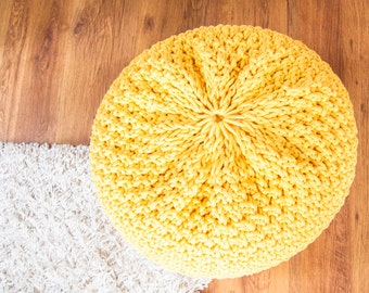 Knitted pouf / ottoman DBLRICE 37 colors