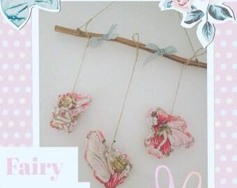 Flower fairy mobile