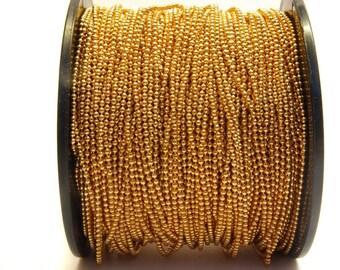 Ball chain necklace gold, fine, 1.5 mm balls