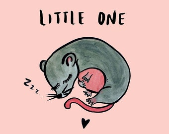 Little One. Nursery decor kids art childrens baby print. Limited edition (100)