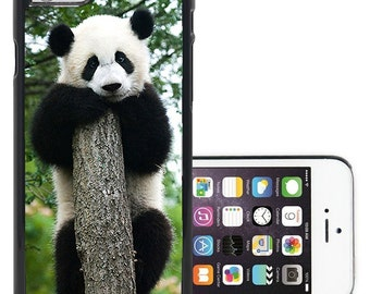 cute panda on tree on iphone 5/5S/SE/6/6S