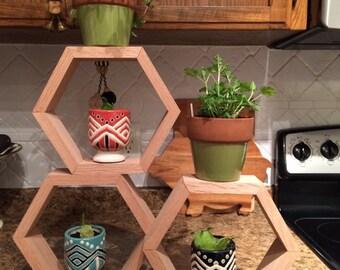 Honeycomb Wall Shelves (3)