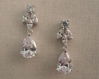 Wedding Earrings Vintage Style, Bridal Earrings, Wedding Accessories, Bridal Jewelry, Rhinestone Earrings, Wedding Accessory