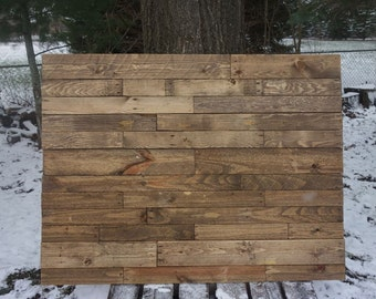 King Pallet Headboard with Stain Ready to Ship