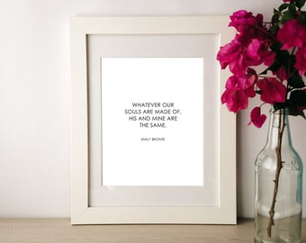 Instant download / Literary quotes / Emily Bronte / Inspirational quote / Home decor / Printable art