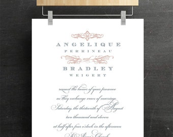 Elegant Wedding Invitation, Bridal Invitation, Batcherette, Caligraphgy, Printable, DIY