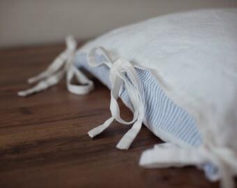 Tie Closure Standard Sham 100% linen