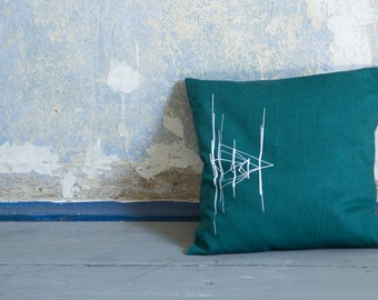 Printed linen pillows / printing / linen pillow