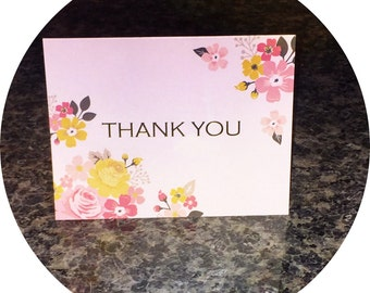 """Handcrafted """"Thank You"""" card"""
