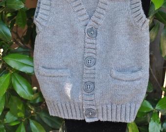 "The ""GREY-SON"" vest 3 months old"
