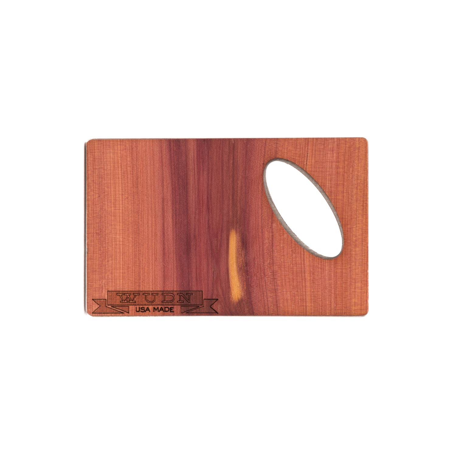 Custom wood credit card bottle opener aromatic cedar by Cedar credit