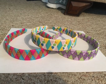 Ribbon wrapped head band