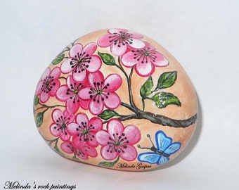 Spring,Hand Painted Stone