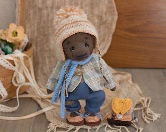 James - dressed teddy bear, boy