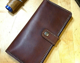 Classic leather wallet handmade