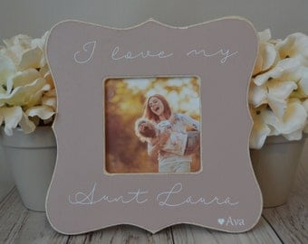 Aunt picture frame  Custom picture frame  I love my aunt picture frame  Aunt gift  Personalized picture frame