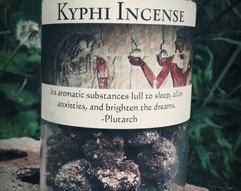 Handmade Egyptian Kyphi Incense, Temple Incense, Altar, Sacred, Wicca, Witchcraft, Pagan, Relaxation
