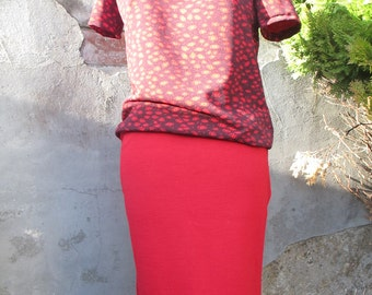 Red skirt merino
