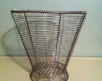 Wire Waste Basket wastebasket | etsy