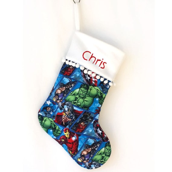 Marvel Comic Iron Man Super Hero Christmas Stocking |Marvel Stockings