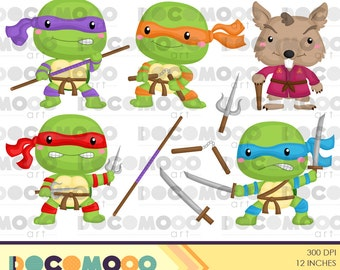 Buy 1 Get 1 !! Ninja Turtle Clipart / Digital Clip Art for Commercial and Personal Use / INSTANT DOWNLOAD