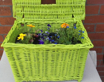 Wicker Outdoor Flower Planter