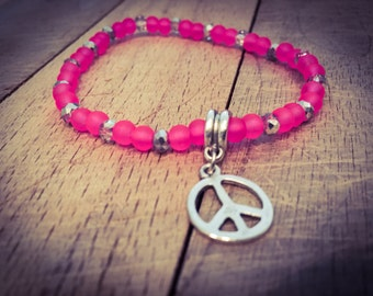 Neon Pink Peace