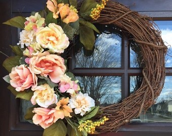 Romantic Dusty Rose Wreath