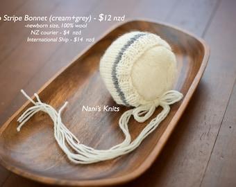 Duo Stripe Newborn Bonnet