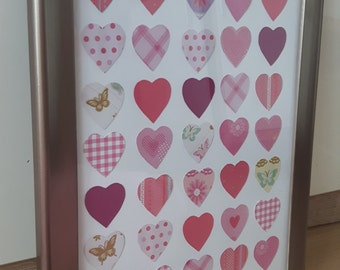 Wandekoration heart with picture frame gift