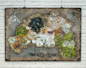 World of Warcraft map, Digital print