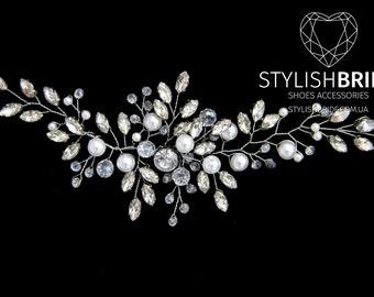 Crystal Wedding Hair Vine, Hair Vine, Crystal Hair Accessories, Crystal Vine, Bridal Hairpiece