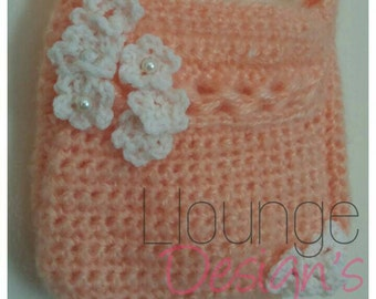 PDF stunning special occasion bag for you to make with easy to follow crochet pattern
