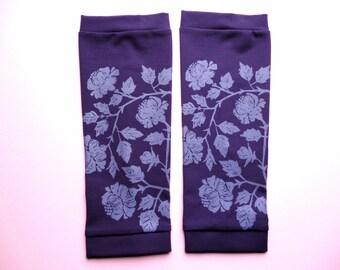 Leg warmers purple / lavender printed