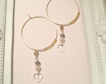 Hoop swing earrings